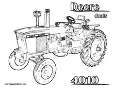 John Deere 8430 Tractor Coloring Page You Can Print Out and Color