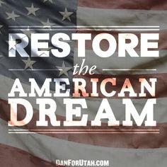 Restore the American Dream. Republican Politics. Facebook Graphic. Harris Media. Design.