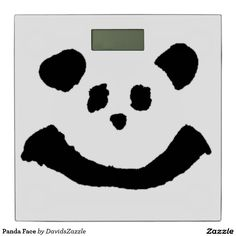 Panda Face Digital Scale  Available on more products! Type in the name of the design in the search bar on my Zazzle Products Page. Thanks for looking!   #bed #bath #bathroom #bedroom #bed #bedding #decorate #apartment #student #college #dorm #home #decor #fun #zazzle #buy #sale #cute #cuddly #panda #bear #cartoon #illustration #black #white #drawing #nature #planet #earth #animal #friend