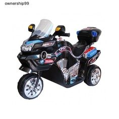 Kids-Electric-Bike-Power-Wheels-Motorcycle-Battery-Powered-Black-Ride-On-New-Toy