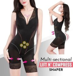 V-neck Lift n' Compress Shaper Inner Thigh Chafing, Bridal Intimates, Neck Lift, Blacked Videos, Underwear Online, Diy Clothes Videos, Women's Shapewear, Gaines, Knit Fashion