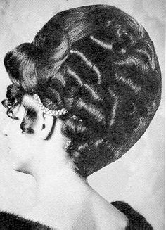 Vintage hair. Updo. may i say...lots going on here...maggots and leeches...