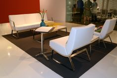 izzy+ NeoCon 2014 // Product Shown: Truman Lounge collection and Penny table.