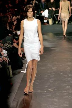 Jean Colonna | Spring 2000 Ready-to-Wear | 33 White sleeveless mini dress