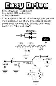 Simple Octave UP Guitar effects pedals schematics DIY