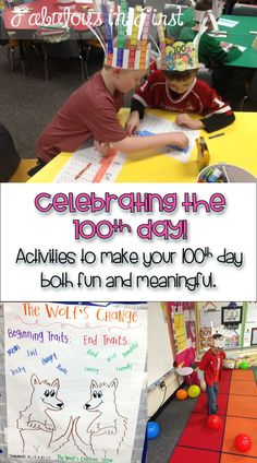 Celebrate the 100th Day with the fun book, The Wolf's Chicken Stew.This book hits many standards and includes lots of great activities for the 100th Day.  Check out our 100th Day fun.