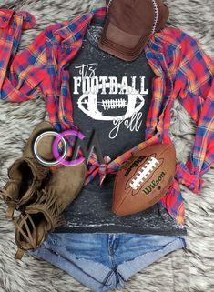It's Football Y'all Shirt, Football y'all Shirt, Ladies Football Shirt, Ladies Football Game Day Shirt - Eroded Wash - One Crafty Momma Football Mom Shirts, Game Day Shirts, Silhouette Cameo, Hoodies, Lady, Sports, Clothes, Women, Hs Sports