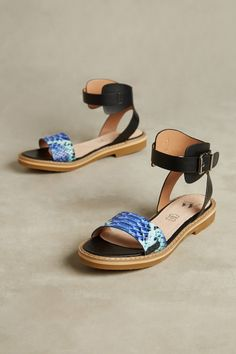 bf22fc8118fb Shop the Vanessa Wu Snake Print Sandals and more Anthropologie at  Anthropologie today. Read customer