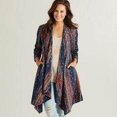 One of my favorite discoveries at WorldMarket.com: Long Woven Cleo Jacket