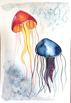 Modern Watercolor Techniques - jellyfish activity