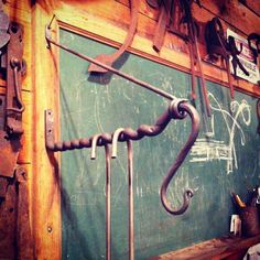 "cloverdaleforge: "" Hook No.153 #366hooks Used a technique taight to me by @smokymountainironware to give the bar on the hook divisions to keep hangers evenly spread out. For that neat freak in your..."