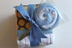 how to make burp cloths and lollipop washcloth    CREATE STUDIO: Three Burp Cloths, One Hour