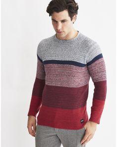 7e71fd4cdf Mens Knitted Pullover Jumper Multi