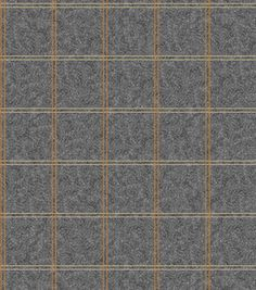 Legacy Studio™ Flannel Fabric-Plaid Grey Orange