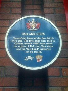 Oldham. First fish and chip shop in the uk.