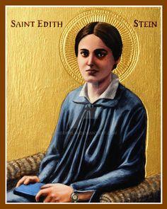 St. Edith Stein icon by Theophilia on DeviantArt St Edith Stein, Christ Pantocrator, Thomas Aquinas, Mary Magdalene, Best Mother, Patron Saints, Roman Catholic, Fan Art, Deviantart