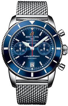 @breitling  Watch Superocean Heritage Chronographe 44 #bezel-unidirectional #bracelet-strap-steel #brand-breitling #case-depth-16-2mm #case-material-steel #case-width-44mm #chronograph-yes #date-yes #delivery-timescale-4-7-days #dial-colour-blue #gender-mens #luxury #movement-automatic #official-stockist-for-breitling-watches #packaging-breitling-watch-packaging #style-sports #subcat-superocean-heritage #supplier-model-no-a2337016-c856-154a #warranty-breitling-official-2-year-guarantee ...