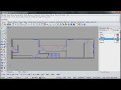 Azuma House Part 1 of 4: Plan drawings in Rhino - YouTube