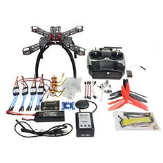 QWinOut DIY RC FPV 310mm Racing APM28 GPS Drone ARF Unassembly Full Combo Set  Radiolink AT9 9CH 24G Radio  Fiberglass Frame * Want to know more, click on the image.