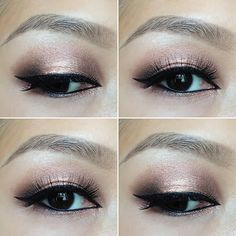 Rose gold smokey eyes using Urban Decay's Naked 3 palette