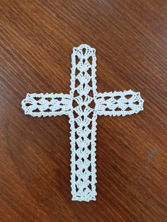 Crochet Cross Ornament The price is for ONE CROCHET CROSS. The Crochet Cross measures approximately by 5 inches Crochet Bookmark Pattern, Crochet Bookmarks, Crochet Cross, Crochet Patterns, Symbols, Etsy, Letters, Knitting, Handmade