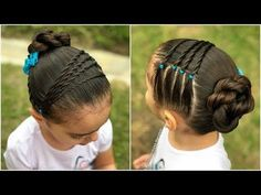 peinado para niñas con nudos y ligas |Peinados fáciles y rápidos para el regreso a clases|LPH - YouTube
