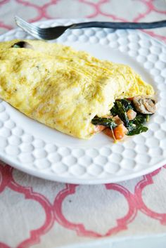 Getting your veggies from omelets is way better than from a salad. Truth.  Get the recipe from Dine and Dish.