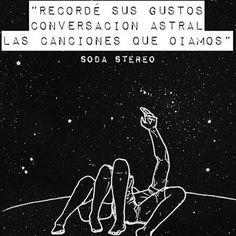 Soda Stereo Crema de Estrellas ☆☆☆ Soda Stereo, Music Love, My Music, Save My Life, Spanish Quotes, Music Quotes, Life Lessons, Love Quotes, Songs