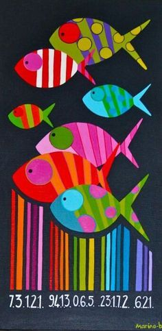 Code barre – 80 x 40 et 40 x 20 cm – Fish Supplies Art Projects, Projects To Try, Frida Art, Fish Quilt, Arts And Crafts, Paper Crafts, Fish Crafts, Fish Design, Beach Art