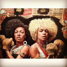 Tim Okamura/ The Fighting Sisters Tim Okamura, Afro, African American Expressions, Man Cave Art, Urban Graffiti, Canadian Painters, Black Art Pictures, National Portrait Gallery, Human Emotions