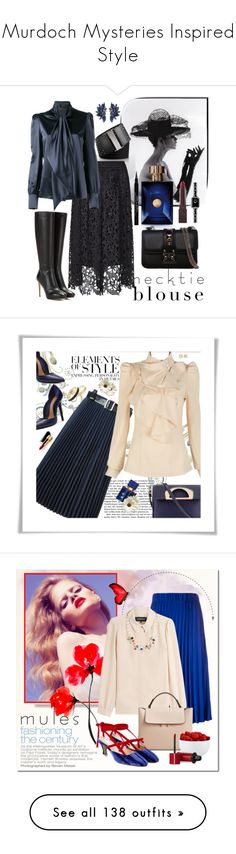"""Murdoch Mysteries Inspired Style"" by yours-styling-best-friend ❤ liked on Polyvore featuring Calvin Klein, Three Floor, Yves Saint Laurent, Jimmy Choo, Versace, Valentino, Chanel, Burt's Bees, Givenchy and Zigi Soho"