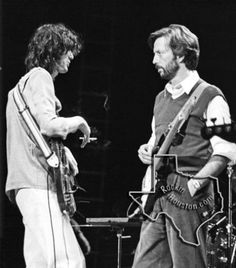 Jimmy Page and Eric Clapton