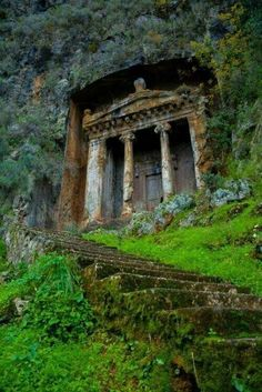 The Tomb of Amyntas, also known as the Fethiye Tomb is an ancient tomb built in the city and district of Fethiye in Muğla Province, located in the Aegean region of Turkey.