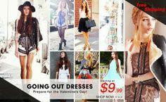 Pinkbelezura: Venda para sair vestidos! A partir de $ 9,99!