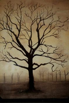 Bare tree painting