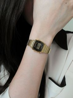 Casio retro watch Retro Watches, Cool Watches, Casio Watch, Style Guides, Bracelet Watch, Vintage Ladies, Bling, Wristwatches, My Style