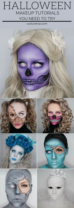 Stop What You're Doing and Check Out These Scary AH Make Up Tutorials You shouldn't miss these Halloween makeup tutorials. The best thing to do is try it out and use our Halloween make-up. Looks Halloween, Halloween 2018, Halloween Face Makeup, Halloween College, Halloween Costumes For Moms, Halloween Makeup Tutorials, Halloween Make Up Scary, Costume Makeup Tutorial, Halloween Night