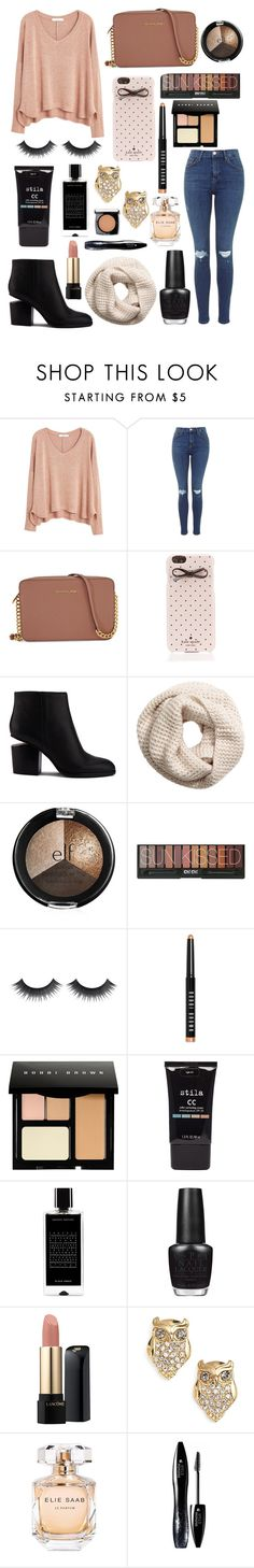 """✌"" by aligator16 ❤ liked on Polyvore featuring MANGO, Michael Kors, Kate Spade, Alexander Wang, H&M, Bobbi Brown Cosmetics, Stila, Agonist, OPI and Lancôme"