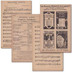 Printable Vintage Sheet Music