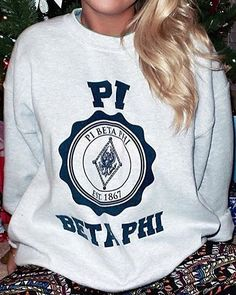 Comfy Pi Beta Phi sweatshirt! #piphi #pibetaphi