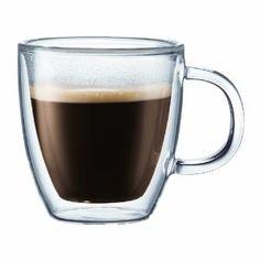 Bodum Bistro Double-Wall Insulated Glass Mug. glass mugs - minimalist, classic and lovely