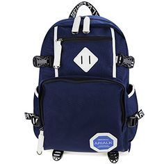 ARIALK Backpack Nylon Leisure Female Bag Male Laptop Holder Unisex Capacious Adjustable Business PC Bag Comfortable Multipurpose TwoWay Zipper Outdoor Sport 3 Color Breathability Heat Dissipation 02 Blue * Check out this great product.
