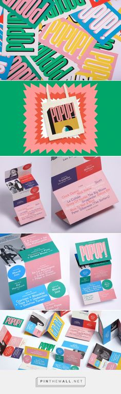 Playground Paris create brand identity for Parisian culture and music venue POPUP! • Inkygoodness... - a grouped images picture - Pin Them All