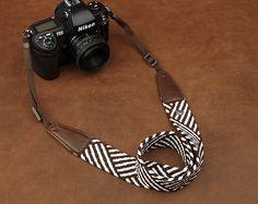 Geometric Patterns Camera Strap  Leather Camera Strap  Denim Camera Strap DSLR Camera Strap via Etsy