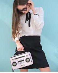 NWT Kate Spade Boom Box Bag Crossbody Jazz Things Up PINK Indie MOD Graffiti #katespadenewyork #Crossbody