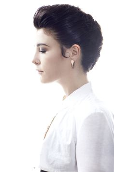 My work Jessie Ware Fly Magazine wearing Dom Jones earrings and necklace with shirt by Otzwald Helgerson