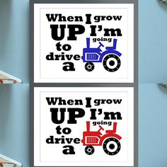 We're an equal #tractor brand supporter around #Iowa, so we added Blue and Red tractor options in our store. Shop away #Farm Fanatics! #farmprint #tractors #tractortheme #farmtheme #boysdecor | Farm Prints | Tractor Prints