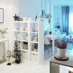 21 Inventive Ways to Use Ikea Kallax She. - 21 Inventive Ways to Use Ikea Kallax Shelves Around the Home – – - Ikea Kallax Shelf, Kallax Shelving Unit, Ikea Kallax Regal, Ikea Shelves Bedroom, Ikea Kallax Hack, Room Decor Bedroom, Diy Room Decor, Living Room Decor, Home Decor