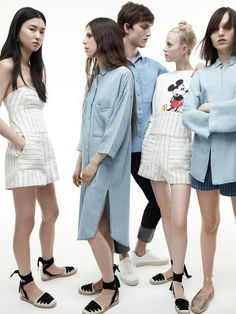 Discover the new ZARA collection online. The latest trends for Woman, Man, Kids and next season's ad campaigns. Fashion Editorial Couple, Fashion Couple, 2010s Fashion, Fashion Fashion, Estilo Denim, Oversized Shirt Dress, Fashion Catalogue, Mode Editorials, Matching Outfits