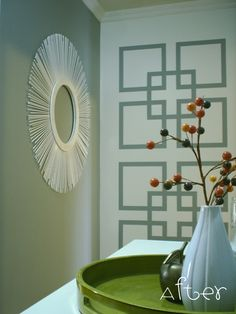 Love Geometrics. Have fun with painter's tape & make a statement!
